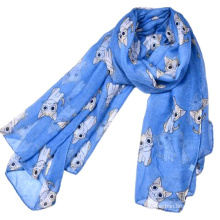 High printed quality hijab women fashion arabic prayer shawl 2017 animal shaped printed cat scarf